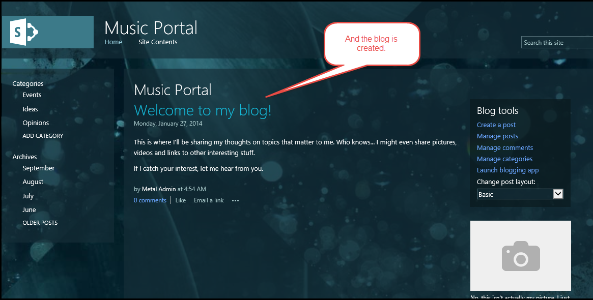how to create a portal in sharepoint 2013